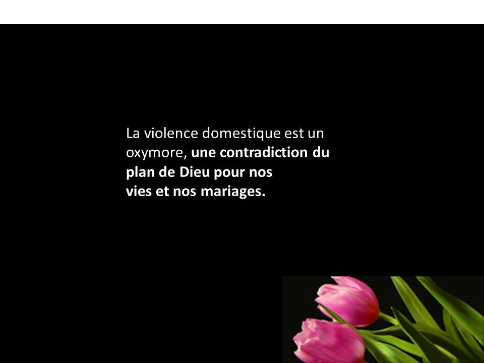 La violence domestique est un oxymore, une contradiction du plan de Dieu pour nos