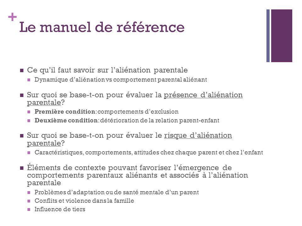 Le manuel de référence Ce qu'il faut savoir sur l'aliénation parentale