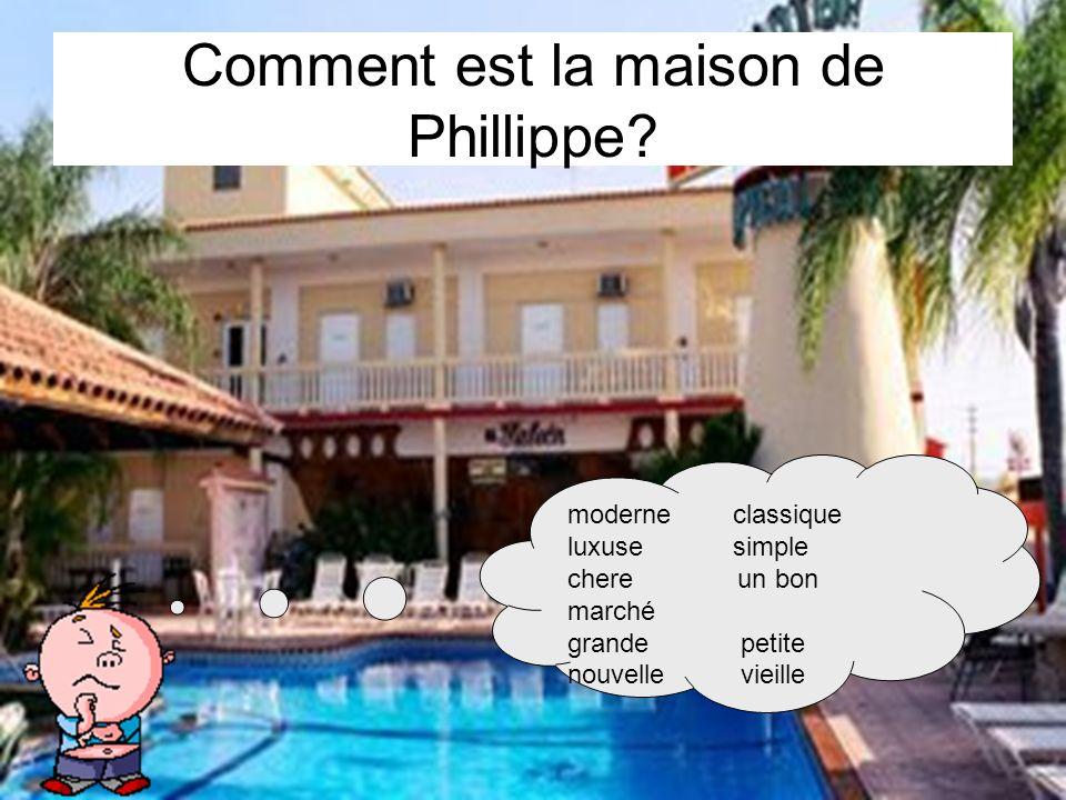 Comment est la maison de Phillippe