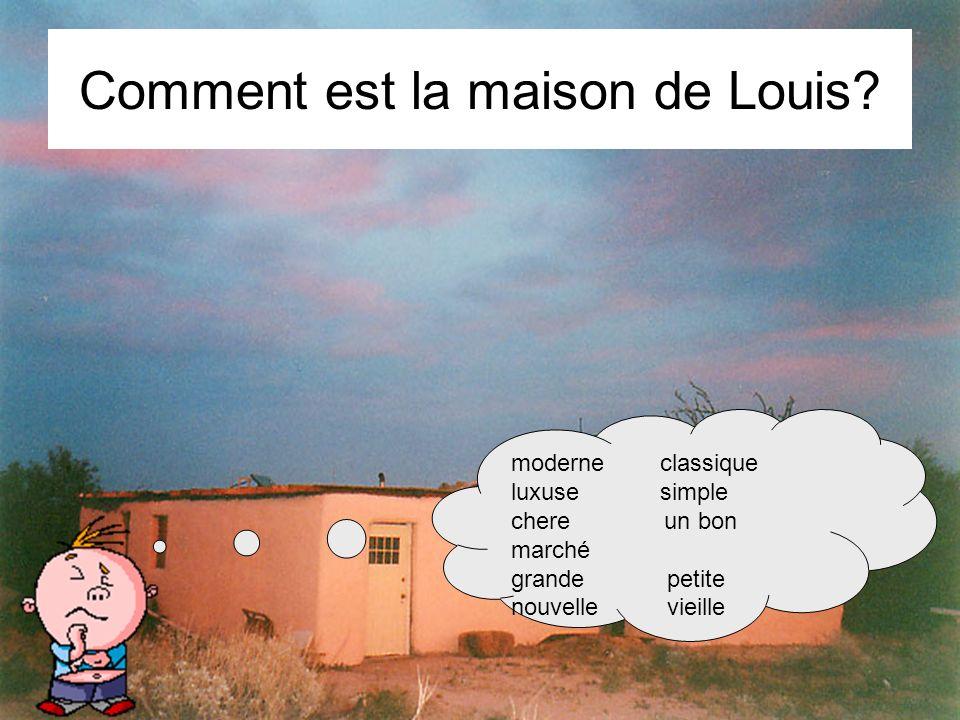 Comment est la maison de Louis