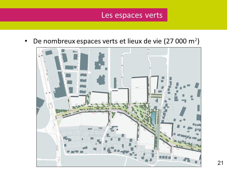 Les espaces verts De nombreux espaces verts et lieux de vie (27 000 m2) Parole à Benjamin Nguyen Huu.