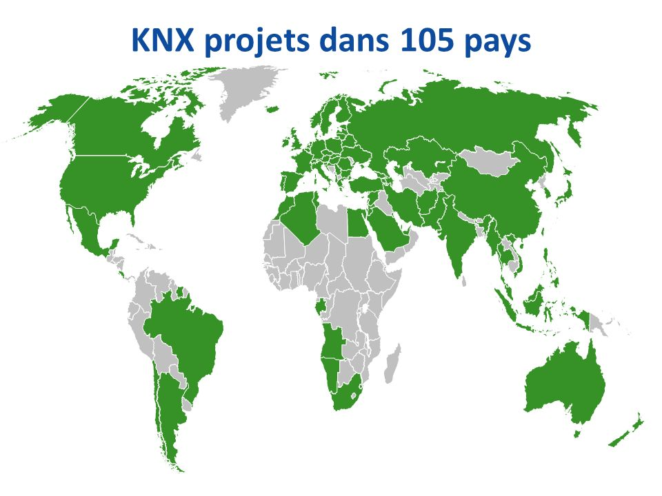 KNX projets dans 105 pays
