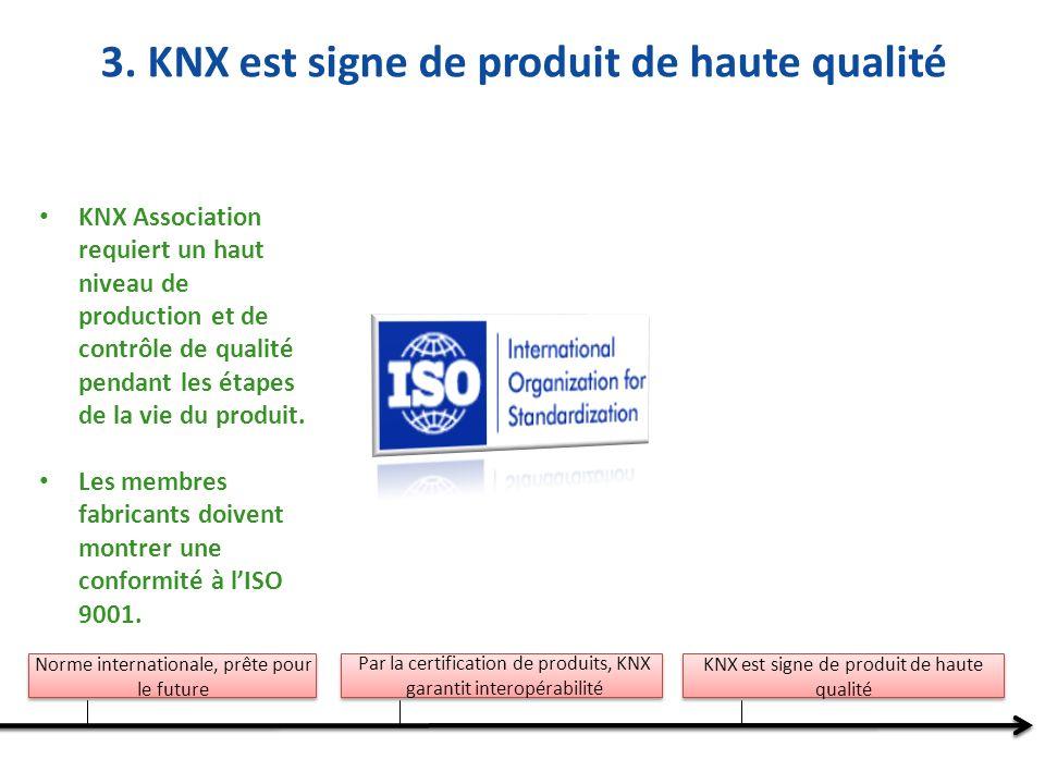 3. KNX est signe de produit de haute qualité