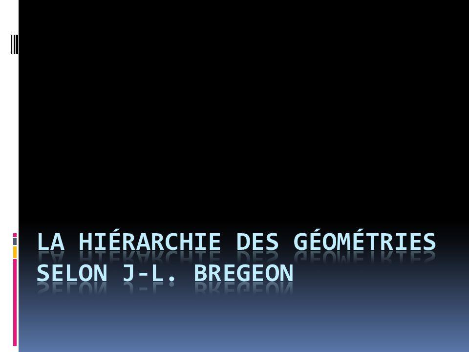 La hiérarchie des géométries selon J-L. BREGEON