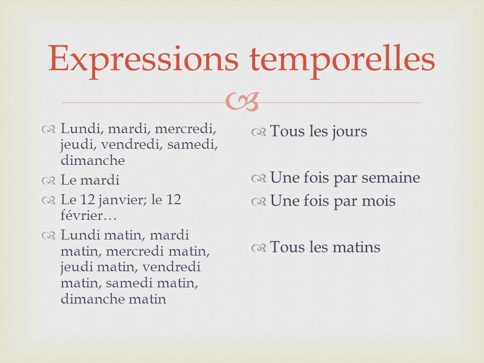 Expressions temporelles