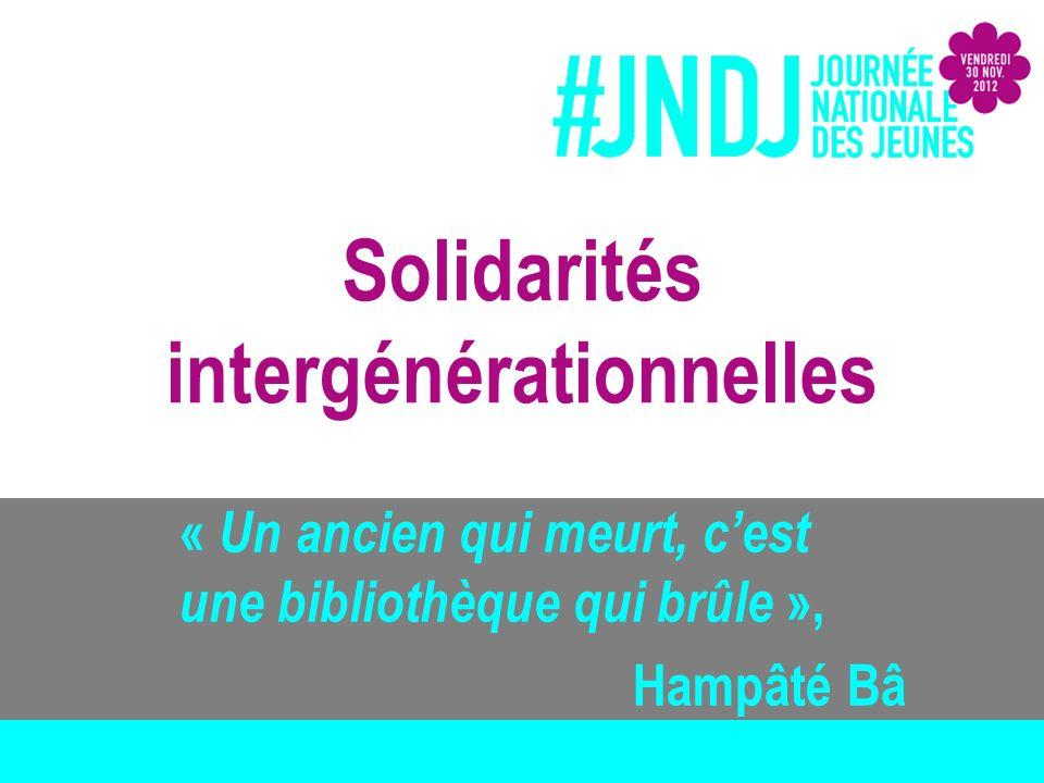 Solidarités intergénérationnelles