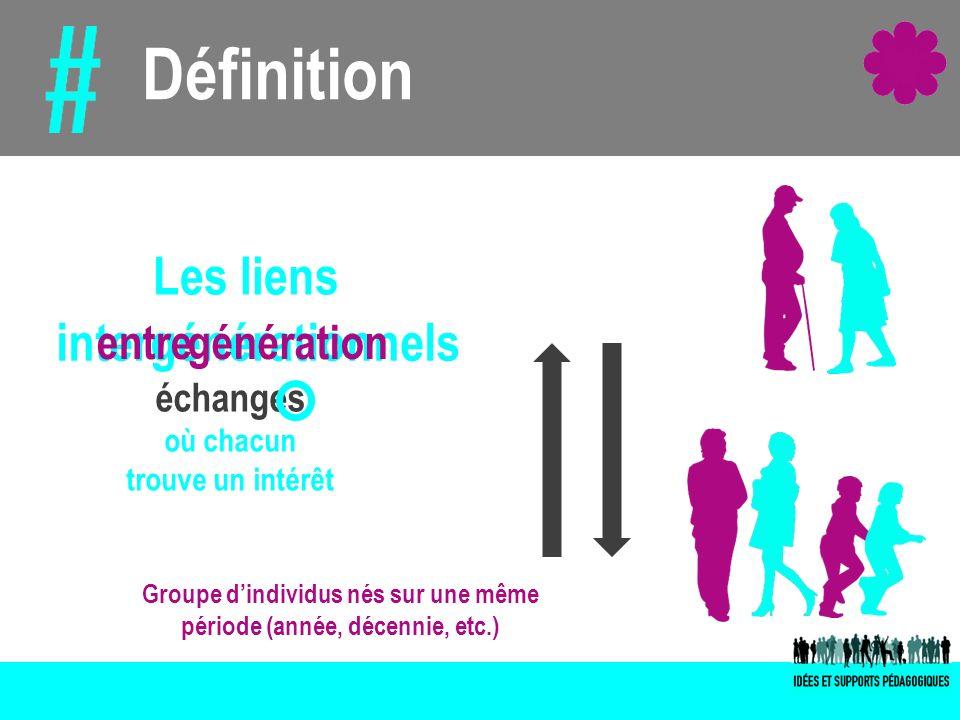 Groupe d'individus nés sur une même période (année, décennie, etc.)