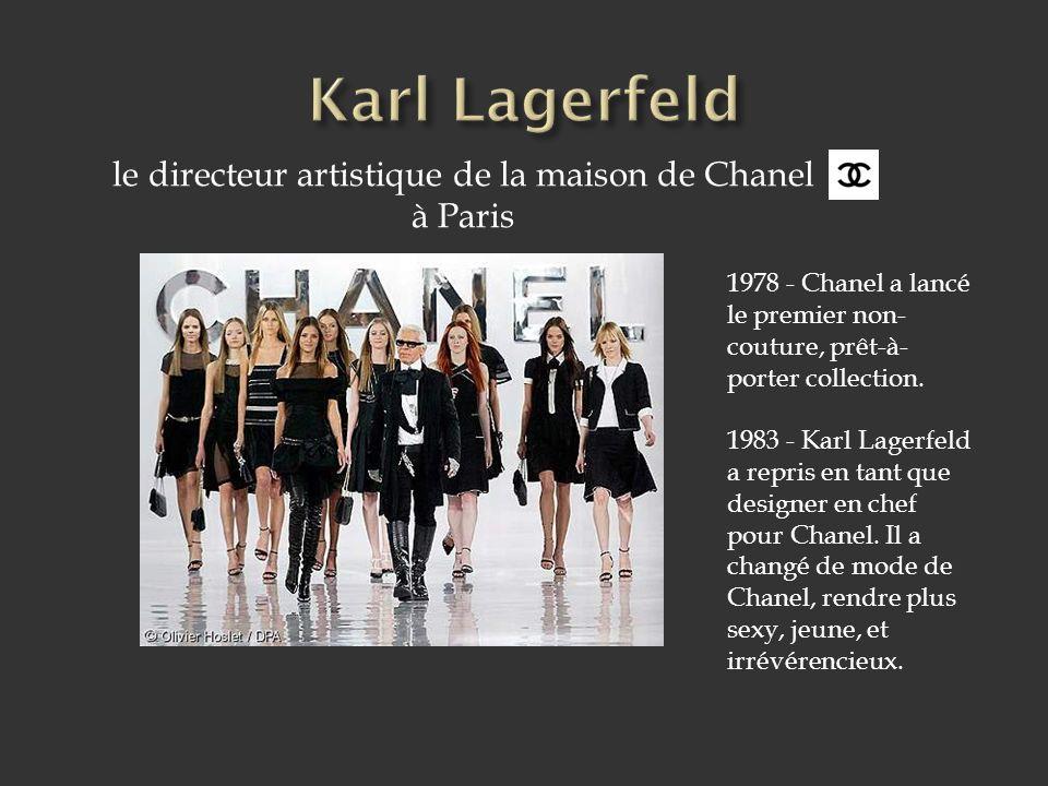 le directeur artistique de la maison de Chanel à Paris