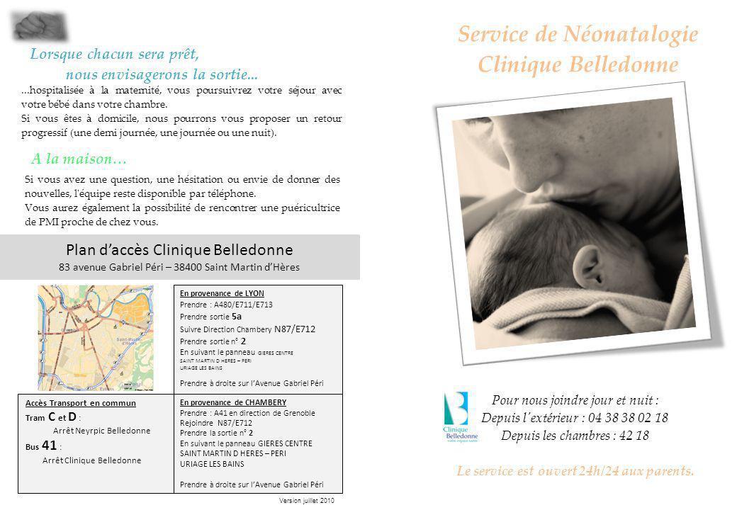 Service de Néonatalogie Clinique Belledonne