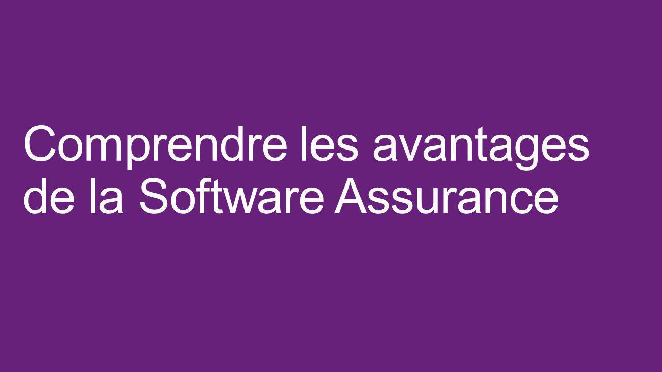 Comprendre les avantages de la Software Assurance