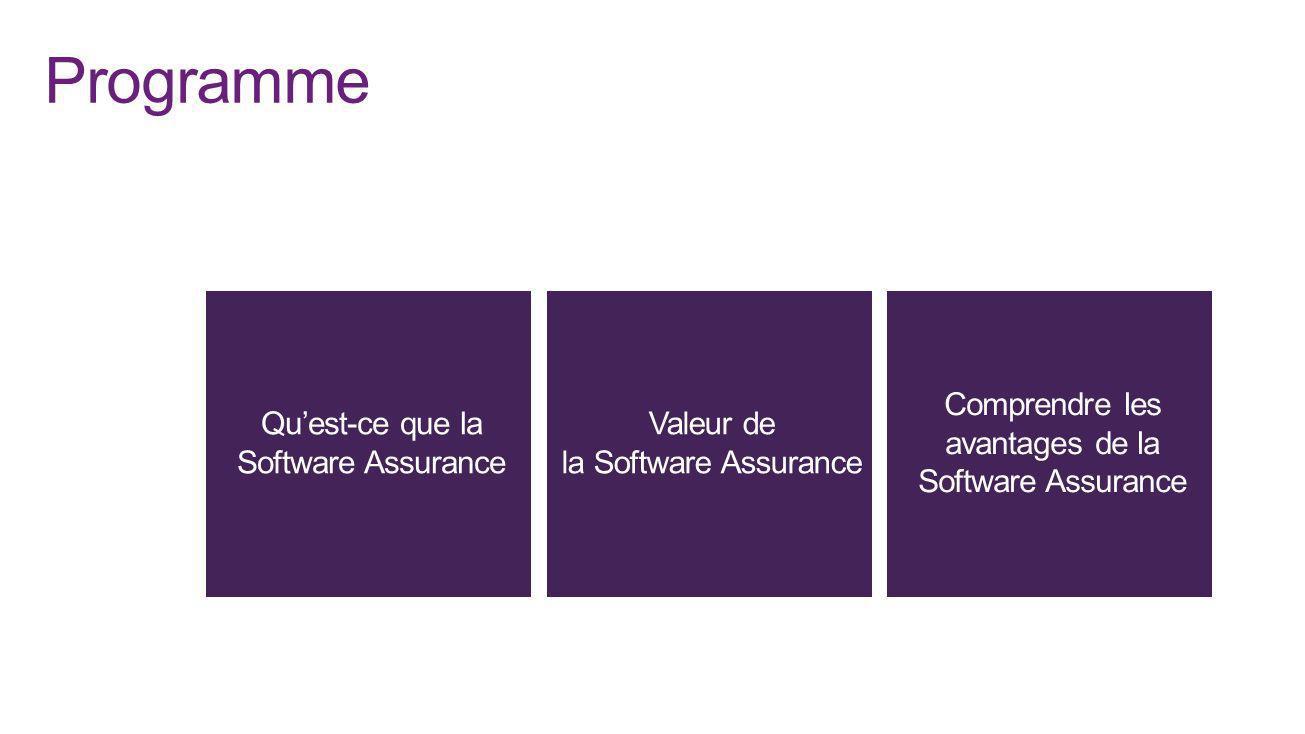 Programme Qu'est-ce que la Software Assurance