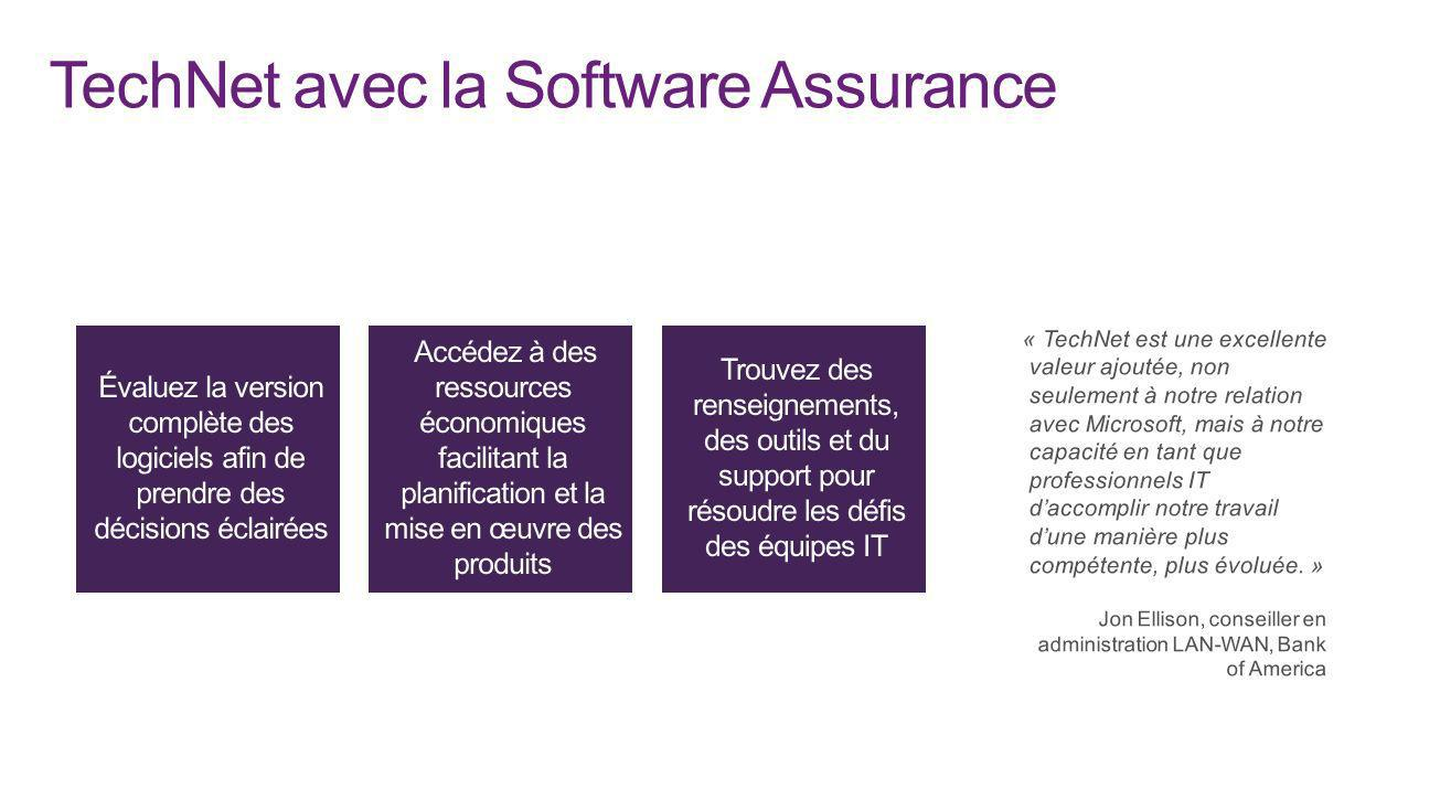 TechNet avec la Software Assurance