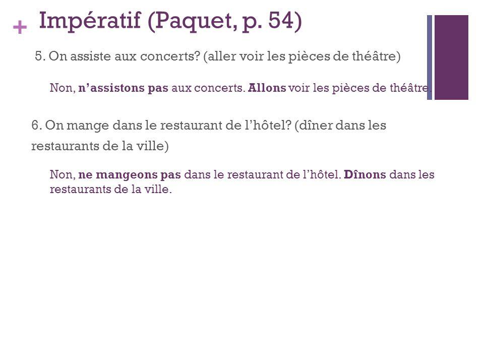Impératif (Paquet, p. 54)