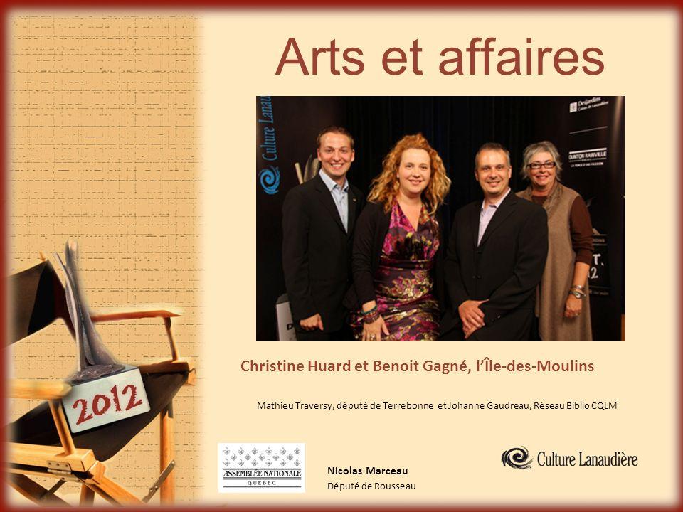 Arts et affaires Christine Huard et Benoit Gagné, l'Île-des-Moulins