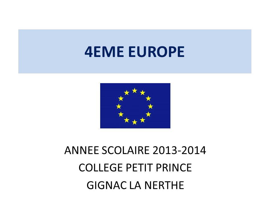 ANNEE SCOLAIRE 2013-2014 COLLEGE PETIT PRINCE GIGNAC LA NERTHE