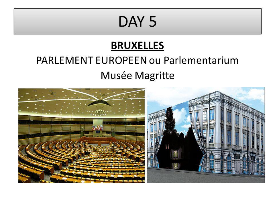 BRUXELLES PARLEMENT EUROPEEN ou Parlementarium Musée Magritte