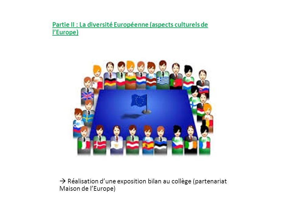 Partie II : La diversité Européenne (aspects culturels de l'Europe)