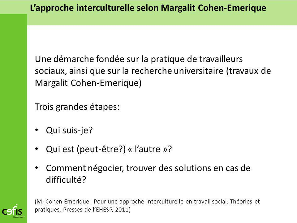 L'approche interculturelle selon Margalit Cohen-Emerique