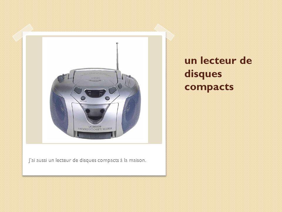 un lecteur de disques compacts