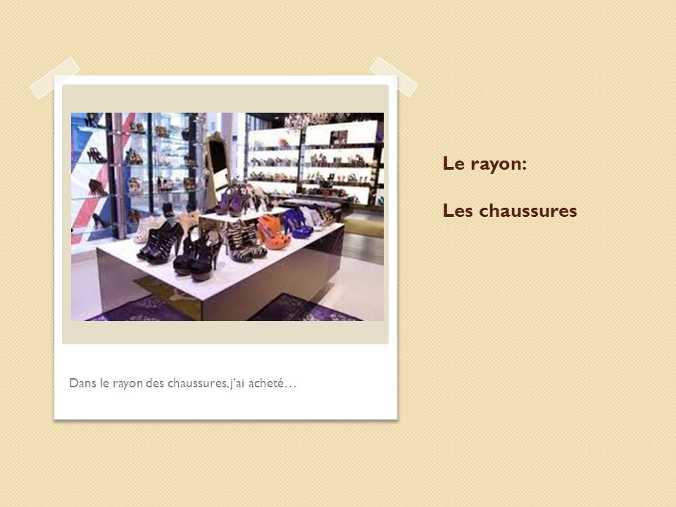 Le rayon: Les chaussures