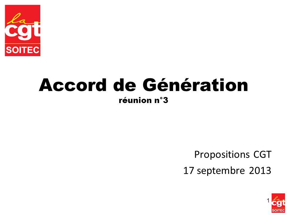 Accord de Génération réunion n°3