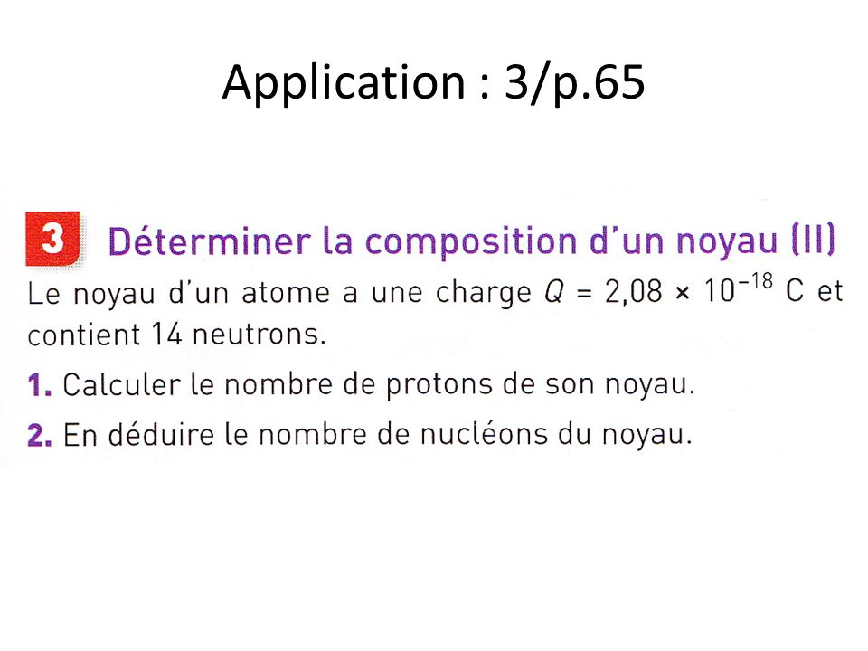 Application : 3/p.65