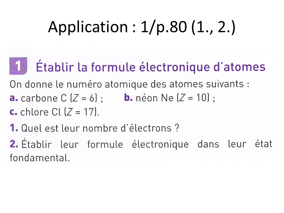 Application : 1/p.80 (1., 2.)
