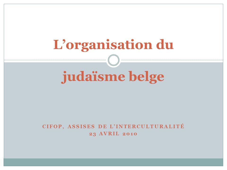 L'organisation du judaïsme belge