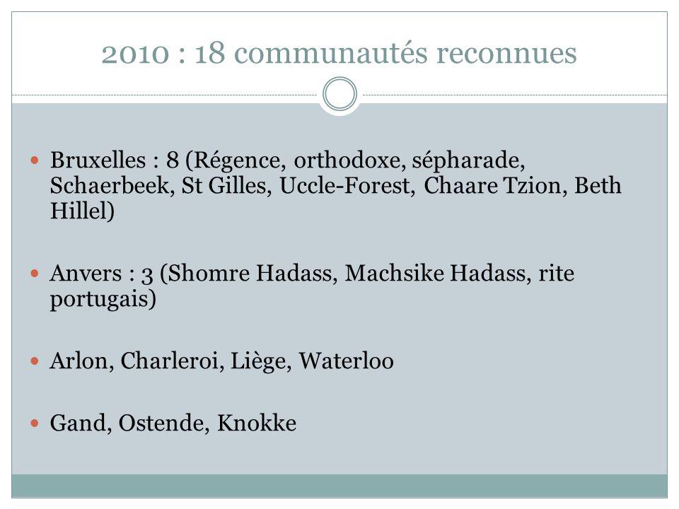 2010 : 18 communautés reconnues