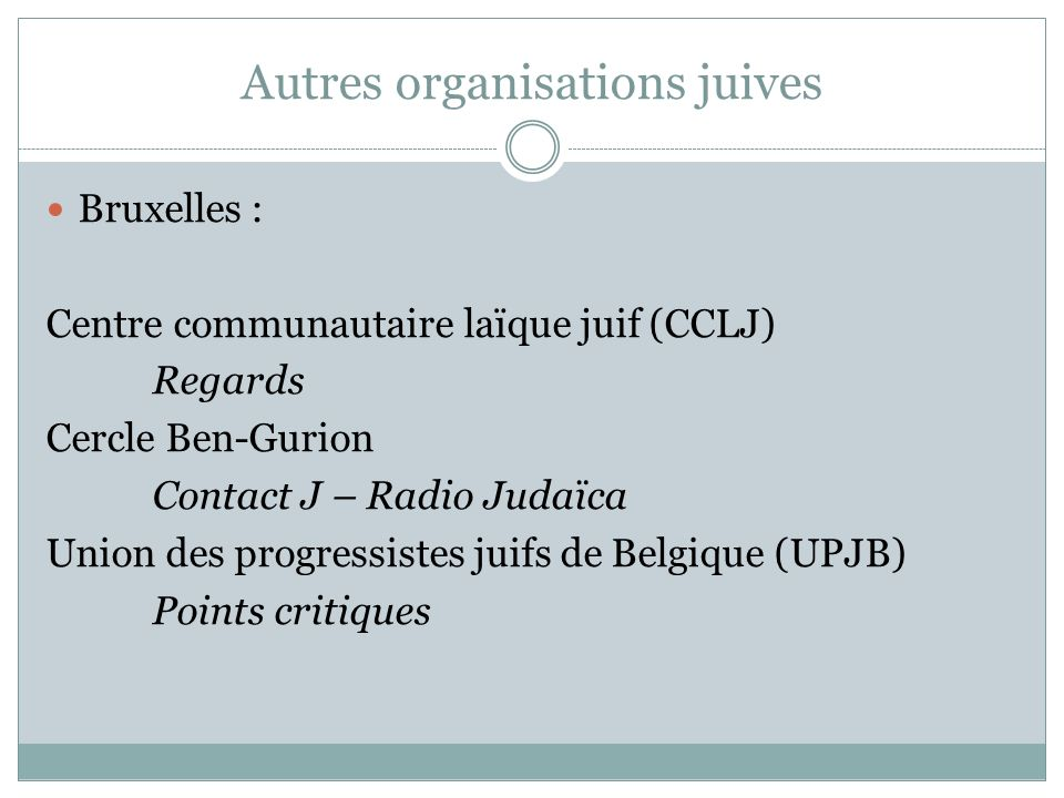 Autres organisations juives