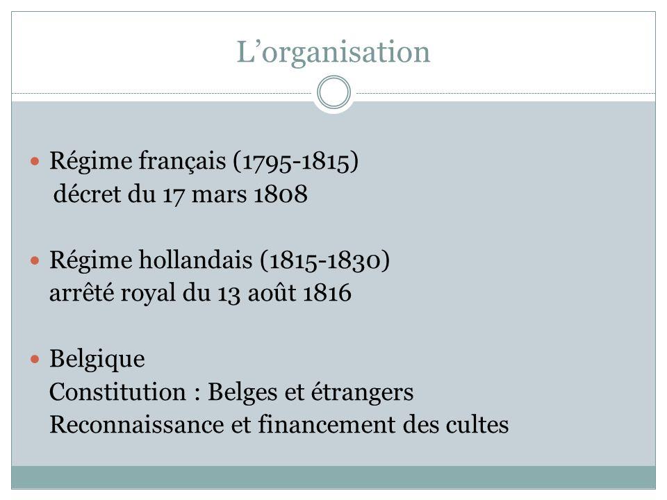 L'organisation Régime français (1795-1815) décret du 17 mars 1808