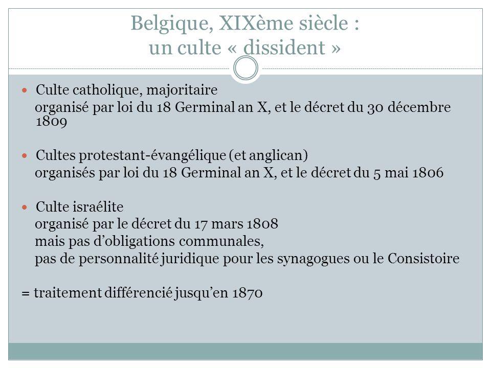 Belgique, XIXème siècle : un culte « dissident »