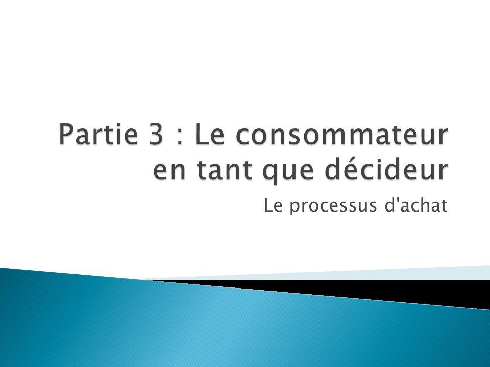 Partie 3 : Le consommateur en tant que décideur