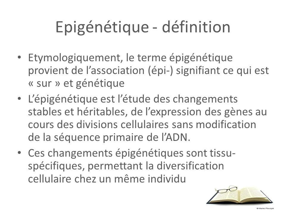 Epigénétique - définition