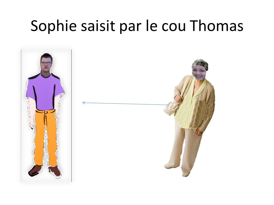 Sophie saisit par le cou Thomas