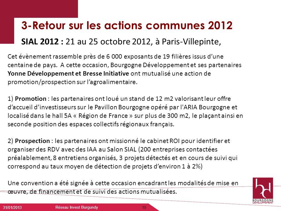 3-Retour sur les actions communes 2012