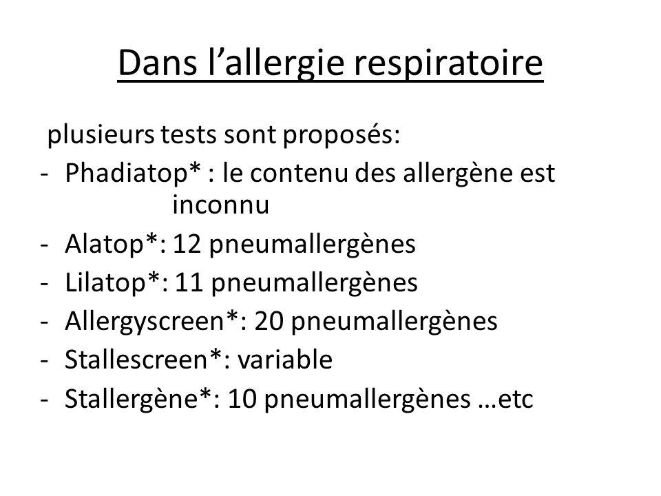 Dans l'allergie respiratoire