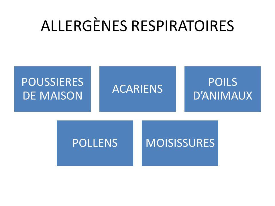 ALLERGÈNES RESPIRATOIRES