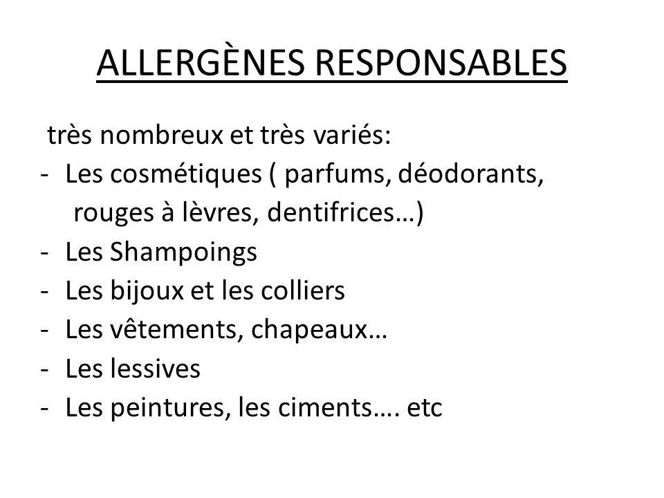 ALLERGÈNES RESPONSABLES