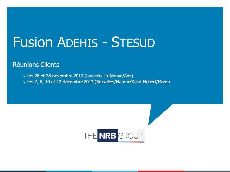 Fusion Adehis - Stesud Réunions Clients