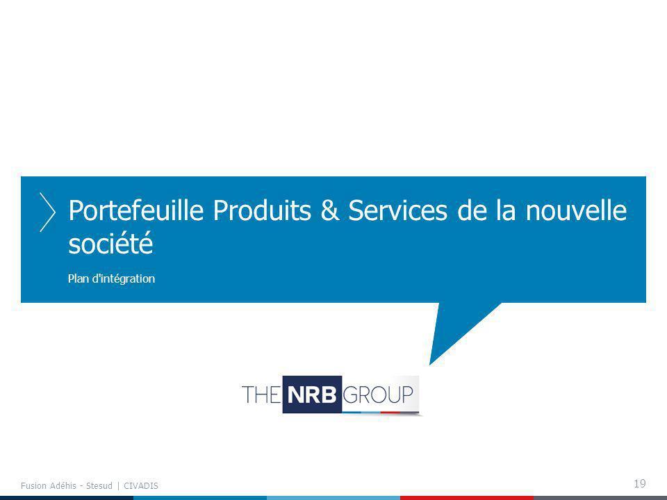 Portefeuille Produits & Services de la nouvelle société