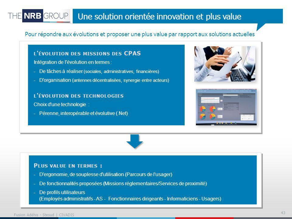 Une solution orientée innovation et plus value