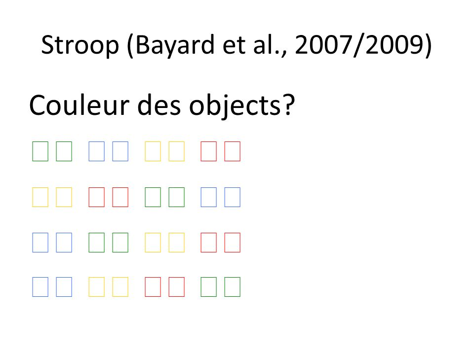 Couleur des objects 􀁺 􀁺 􀁺 􀁺