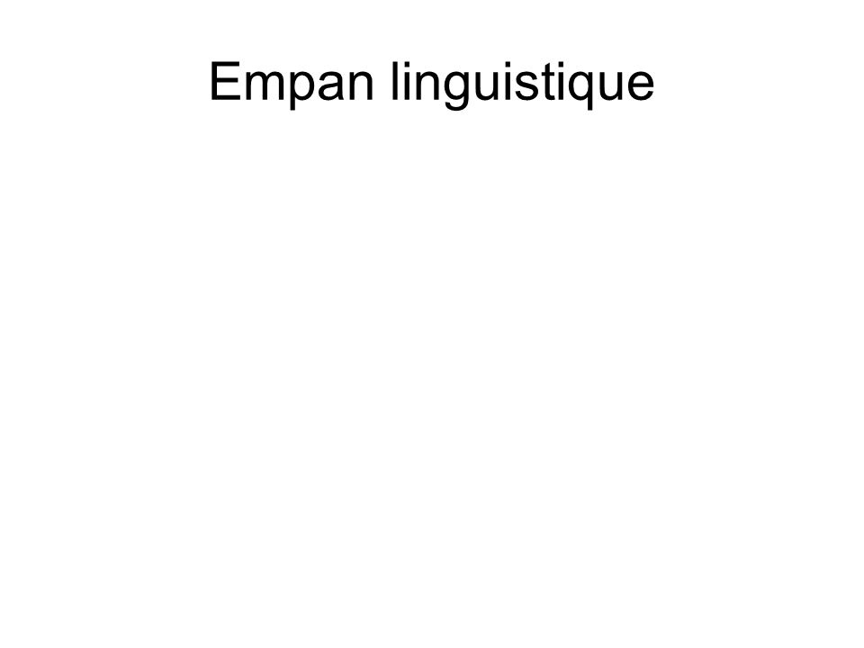 Empan linguistique