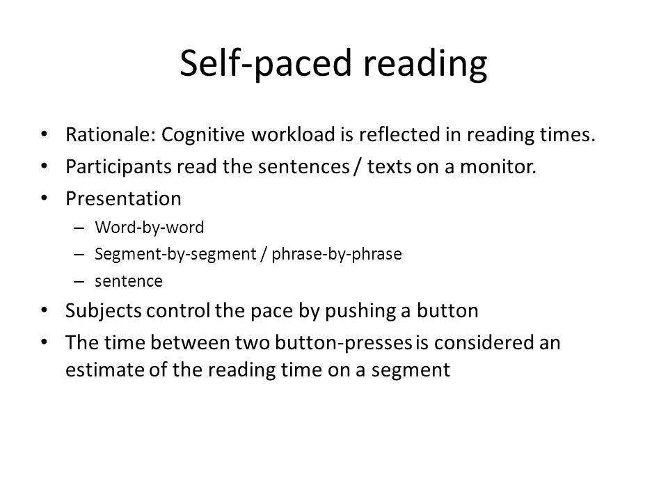 Psycholinguistique: Compréhension 1