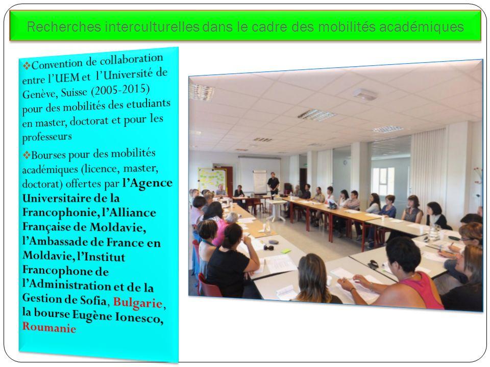 Recherches interculturelles dans le cadre des mobilités académiques