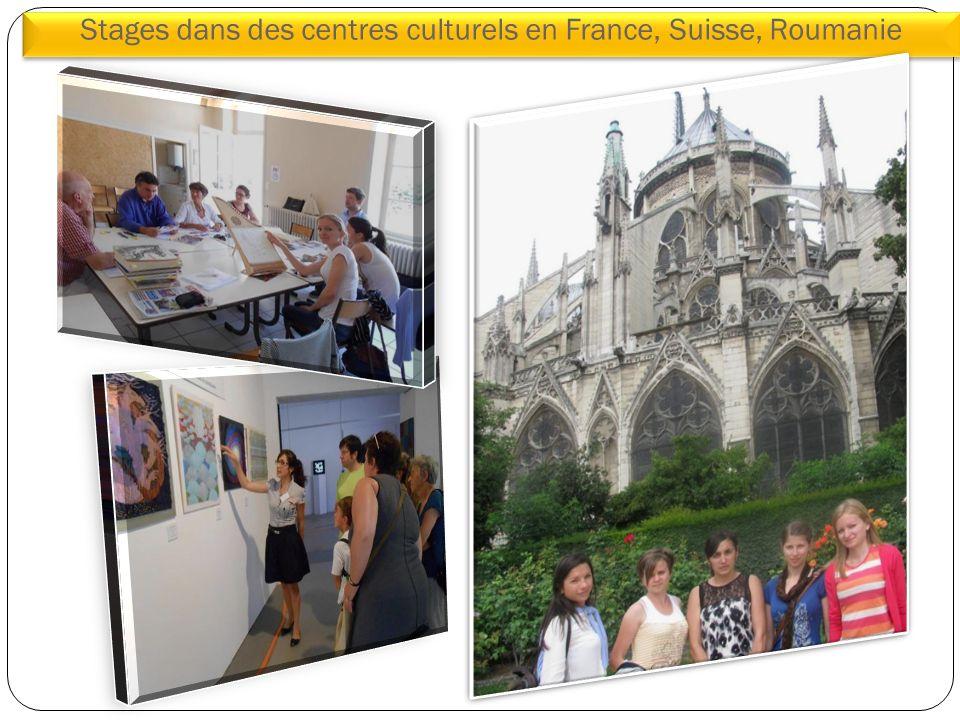 Stages dans des centres culturels en France, Suisse, Roumanie