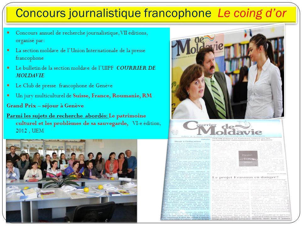 Concours journalistique francophone Le coing d'or
