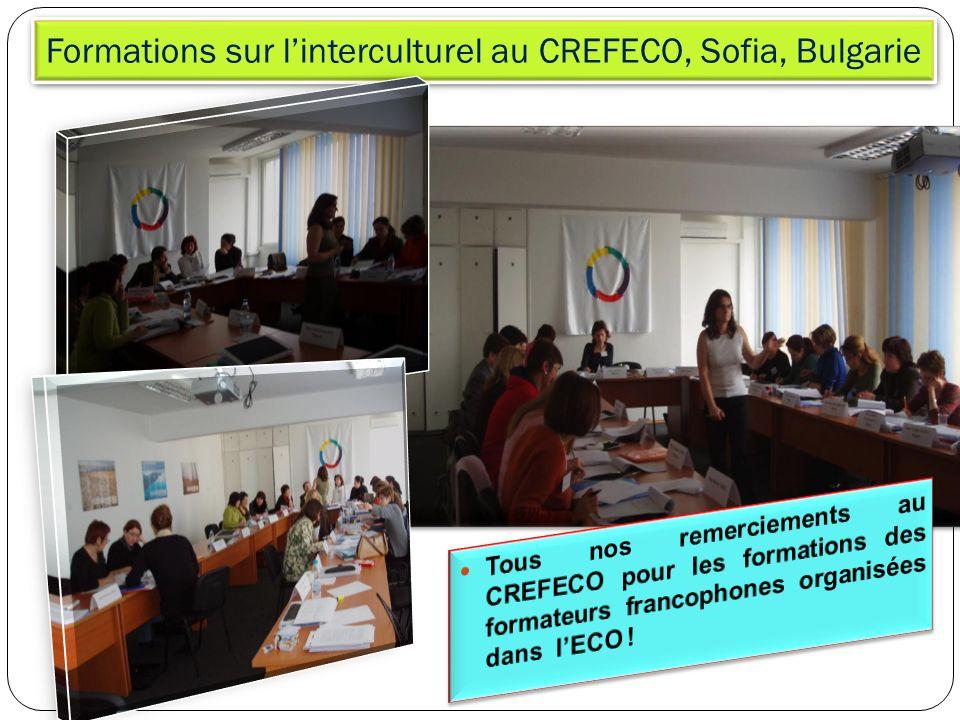 Formations sur l'interculturel au CREFECO, Sofia, Bulgarie