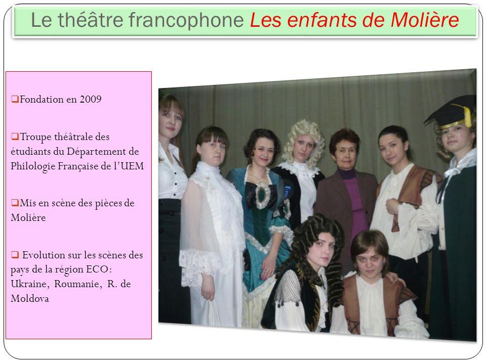 Le théâtre francophone Les enfants de Molière